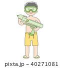 小学生7歳男の子_海水浴 40271081