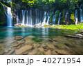 《静岡県》白糸の滝・清流《スローシャッター》 40271954