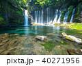 《静岡県》白糸の滝・清流《スローシャッター》 40271956