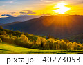great sunset in Carpathian mountains 40273053