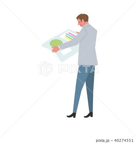 グラフをみる ビジネスマン ビジネスイメージ イラスト 40274551