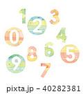 数字 数 番号のイラスト 40282381
