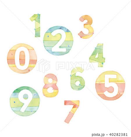 数字のイラスト 40282381