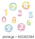 数字 数 番号のイラスト 40282384