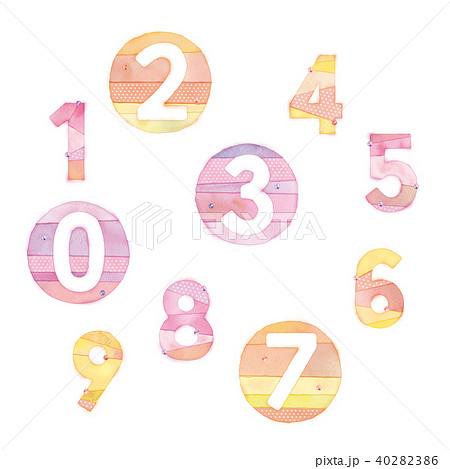 数字のイラスト 40282386