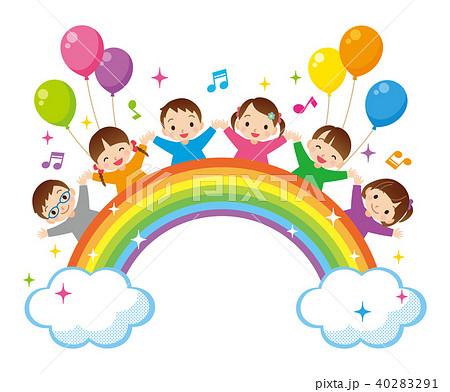 虹と子供たち 40283291