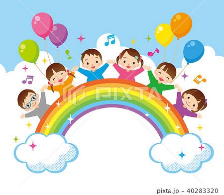 虹と子供たち 40283320