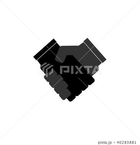 handshake vector flat icon contract agreementのイラスト素材