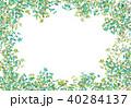 葉 枝 フレームのイラスト 40284137