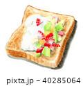 トースト 水彩 食べ物のイラスト 40285064