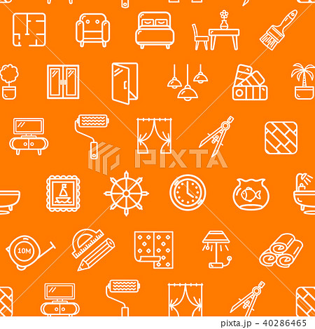 home decor signs seamless pattern background vectorのイラスト素材