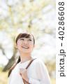 人物 笑顔 女性の写真 40286608