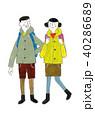 登山 夫婦 ハイキングのイラスト 40286689