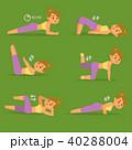 女性 トレーニング ワークアウトのイラスト 40288004
