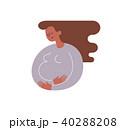 妊娠 アフリカ系アメリカ人 お母さんのイラスト 40288208