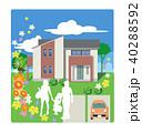 住宅 家 カラフルのイラスト 40288592