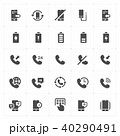 Icon set - phone and calling solid icon style  40290491