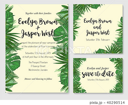 wedding invitation save the date rsvp inviteのイラスト素材