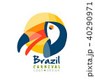 Brazil Carnival logo design, bright fest.ive party banner or poster with toucan bird vector 40290971