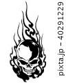 頭蓋骨 スカル ドクロのイラスト 40291229