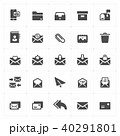 Icon set - mail and letter solid icon  40291801
