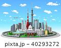 街並み、東京、山手線青空 40293272