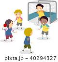 Stickman Kids Boys Handball Illustration 40294327