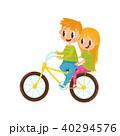 自転車 少年 乗り上げのイラスト 40294576