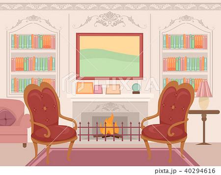 Victorian Living Room Interior Illustration 40294616