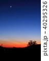 神奈川県足柄下郡 大観山 夕景 月と木星と水星 40295326