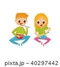 子供 ボウル 器のイラスト 40297442