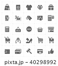 Icon set - shopping and commerce solid icon style  40298992
