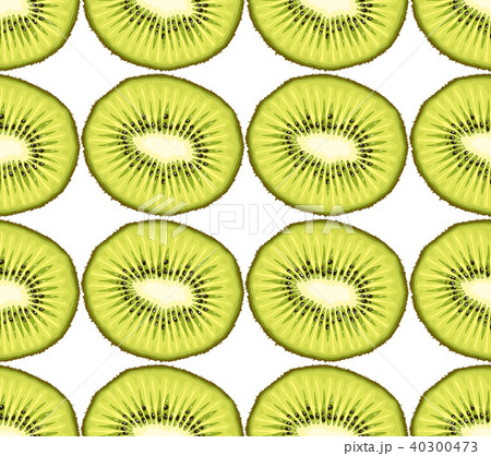 Vector seamless pattern from kiwi slices 40300473