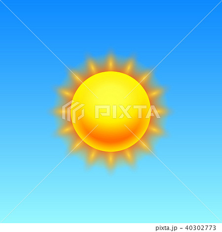 Modern Realistic weather icon. Meteorology symbol on blue background. Color Vector illustration for 40302773