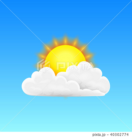 Modern Realistic weather icon. Meteorology symbol on blue background. Color Vector illustration for 40302774