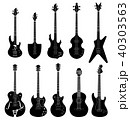 Guitar silhouette. Music instruments icon set. 40303563