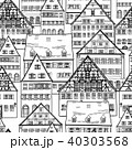 City skyline seamless pattern building background 40303568