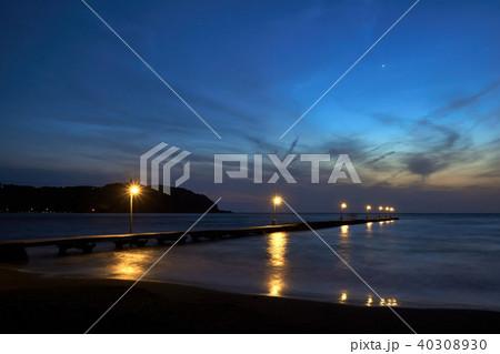千葉県 原岡海岸 岡本桟橋 夜景 40308930