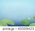 背景-水色-カエル 40309423
