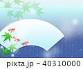 青紅葉 金魚 夏のイラスト 40310000