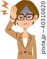 頭痛 偏頭痛 病気のイラスト 40310620
