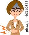 腹痛 下痢 病気のイラスト 40310625