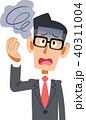 スーツを着た会社員の男性の体調不良 めまい メガネ 40311004