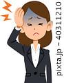 頭痛 偏頭痛 病気のイラスト 40311210