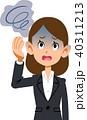 スーツを着用した働く女性の病気の症状 めまい 40311213
