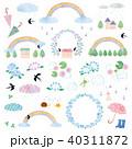 素材-梅雨風景(テクスチャ) 40311872