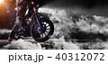 単車 バイク 煙の写真 40312072