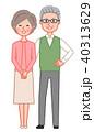 夫婦 シニア 笑顔のイラスト 40313629