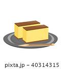 カステラ 和菓子 菓子のイラスト 40314315