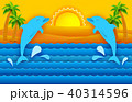 太陽 日 海のイラスト 40314596